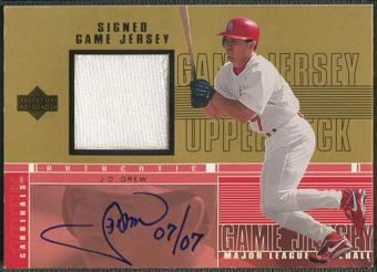 2000 Upper Deck Pros and Prospects #JD J.D. Drew Gold Jersey Auto #7/7