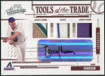 2005 Absolute Memorabilia #165 Randy Johnson Tools of the Trade Jersey Patch Auto #2/5