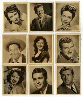 Bowman's Movie Stars (9) Card Lot