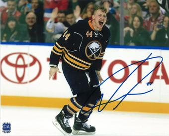Nicolas Deslauriers Autographed Buffalo Sabres 8x10 Blue Hockey Photo
