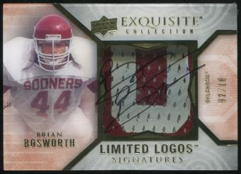2013 Upper Deck Exquisite Collection Limited Logos #LLBB Brian Bosworth 2/10