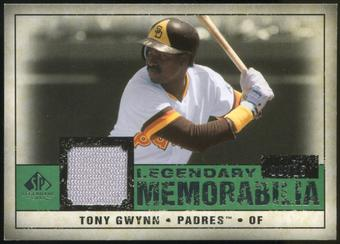 2008 Upper Deck SP Legendary Cuts Legendary Memorabilia Dark Green Parallel #TG2 Tony Gwynn 9/15