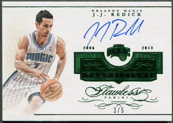 2014/15 Panini Flawless #30 J.J. Redick Transitions Emerald Auto #3/5
