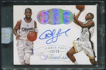 2014/15 Panini Flawless #10 Chris Paul Now and Then Signatures Auto #13/20