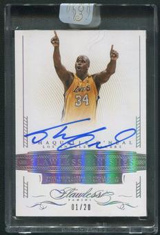 2014/15 Panini Flawless #39 Shaquille O'Neal Flawless Finishes Auto #01/20