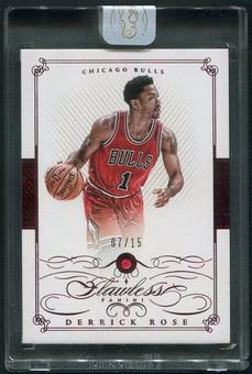 2014/15 Panini Flawless #12 Derrick Rose Ruby #07/15