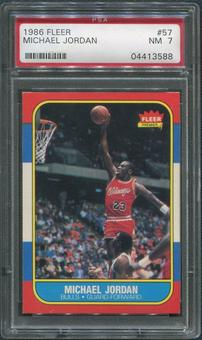 1986/87 Fleer Basketball #57 Michael Jordan Rookie PSA 7 (NM)