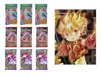 COMBO DEAL - Pokemon Booster Pack Deal with Free Fire Boy Portfolio!