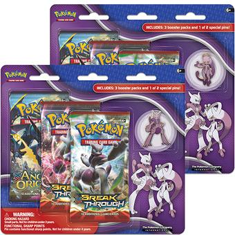 Pokemon Mega Mewtwo X/Y Collector's Pin 3-Pack