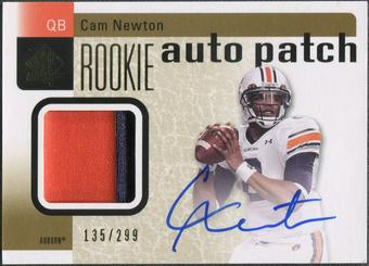 2011 SP Authentic #204 Cam Newton Rookie Patch Auto #135/299