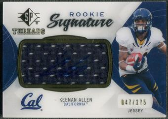 2013 SP Authentic #RTKA Keenan Allen Rookie Threads Jersey Auto #047/275