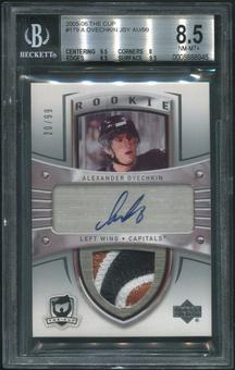 2005/06 The Cup #179 Alex Ovechkin Rookie 3 Color Patch Auto #20/99 BGS 8.5 (NM-MT+)