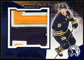 2015/16 Leaf 2015 Fall Expo Superlative Jack Eichel Exclusive Blue 3 Color Jersey Patch Card 32/35