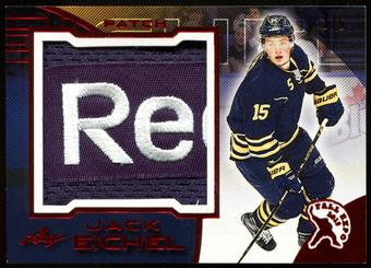 2015/16 Leaf 2015 Fall Expo Superlative Jack Eichel Exclusive Red Reebok Logo Jersey Patch Card 3/5