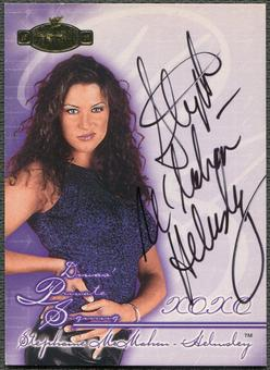 2001 Fleer WWF Championship Clash Divas #3 Stephanie McMahon Private Signing Auto