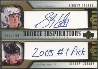 2005/06 Upper Deck Rookie Update #276 Sidney Crosby Rookie Auto #062/199