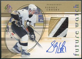 2005/06 SP Authentic #181 Sidney Crosby Limited Rookie Patch Auto #001/100