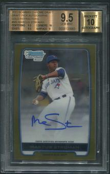 2012 Bowman Chrome Draft #MS Marcus Stroman Draft Pick Gold Refractor Rookie Auto #17/50 BGS 9.5 (GEM MINT)