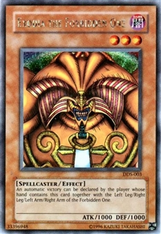 Yu-Gi-Oh Promo Single Exodia The Forbidden One Secret Rare (DDS-003)