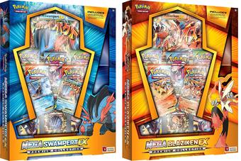 Pokemon Mega Swampert-EX & Blaziken-EX Premium Collection Box