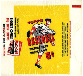 1956 Topps Baseball .5 Cent Wrapper