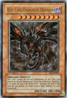Yu-Gi-Oh SD Dragon's Roar Single Red-Eyes Darkness Dragon Ultra Rare SD1-EN001