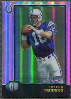 1998 Bowman Chrome Preview #BCP1 Peyton Manning Rookie Refractor