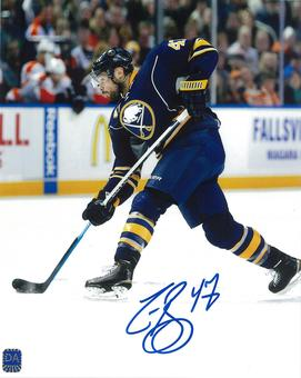 Zach Bogosian Autographed Buffalo Sabres Shooting 8x10 Hockey Photo
