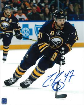 Zach Bogosian Autographed Buffalo Sabres Skating 8x10 Hockey Photo