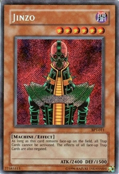 Yu-Gi-Oh Limited Edition Tin Single Jinzo Secret Rare (BPT-011)