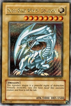 Yu-Gi-Oh Promo Single Blue-Eyes White Dragon (DDS-001) - SLIGHT PLAY (SP)