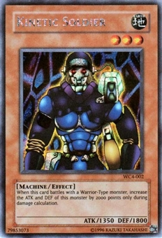 Yu-Gi-Oh Promo Single Kinetic Soldier Secret Rare (WC4-002)