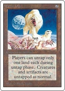 Magic the Gathering Unlimited Single Winter Orb - MODERATE PLAY (MP)