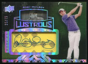 2014 Upper Deck UD Black Lustrous Signatures #72 Rory McIlroy Shirt 25/75