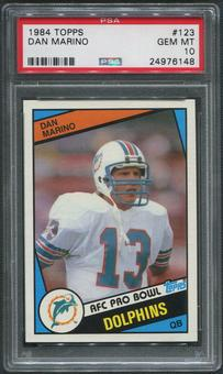 1984 Topps Football #123 Dan Marino Rookie PSA 10 (GEM MT)