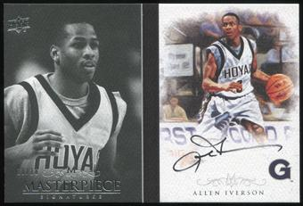 2012/13 Upper Deck Exquisite Collection Masterpiece Autographs #AI Allen Iverson 10/10