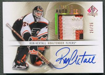 2012/13 SP Authentic #64 Ron Hextall Limited Patch Auto #25/25