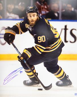 Ryan O'Reilly Autographed Buffalo Sabres Blue Jersey 16x20 Photo