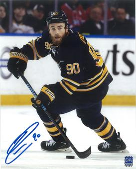 Ryan O'Reilly Autographed Buffalo Sabres Blue Jersey 8x10 Photo