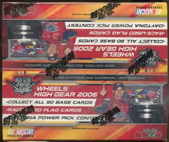 2006 Press Pass Wheels High Gear Racing Retail Box