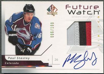 2006/07 SP Authentic #174 Paul Stastny Limited Rookie Patch Auto #006/100