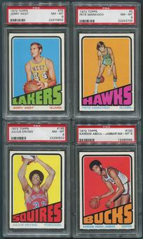 1972/73 Topps Basketball Partial Set (NM-MT) With 8 PSA Graded Cards