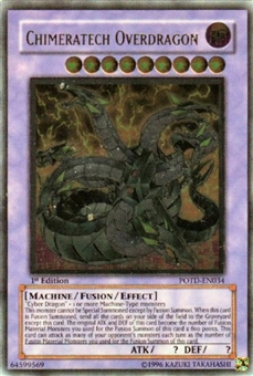 Yu-Gi-Oh Power of the Duelist 1st Ed. Chimeratech Overdragon Ultimate Rare