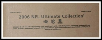 2006 Upper Deck Ultimate Collection Football Hobby 4-Box Case