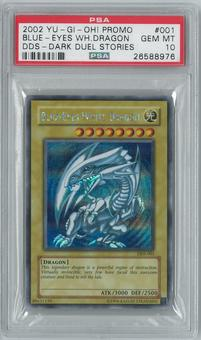 Yu-Gi-Oh DDS (Dark Duel Stories) Blue-Eyes White Dragon Secret Rare - GEM MINT PSA 10 DDS-001