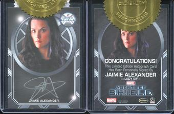Marvel Agents of S.H.I.E.L.D. Season Two Trading Cards 9 Case Incentive - Jamie Alexander Autograph