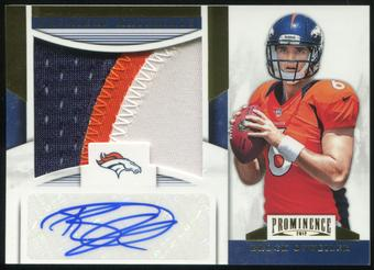 2012 Panini Prominence Premiere Materials Signatures Prime #1 Brock Osweiler 8/15