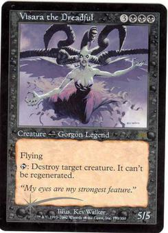 Magic the Gathering Onslaught Single Visara, the Dreadful Foil - SLIGHT PLAY (SP)
