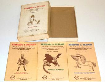 Original Dungeons & Dragons Box Set 4th Printing - Incomplete