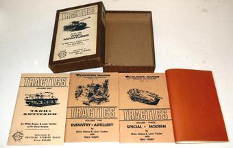 Tractics - Rules for WWII Miniatures TSR Woodgrain Box